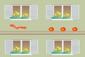 松鼠捡水果