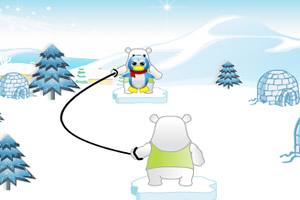 企鹅玩跳绳