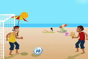 沙滩趣味排球赛