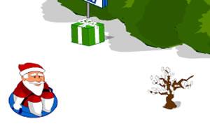 玩滑板的圣诞老人