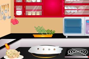 感恩节烹饪火鸡