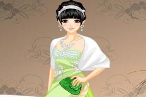 绿色连衣裙