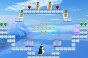 企鹅找冰冻水果