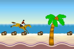 海滩障碍赛马