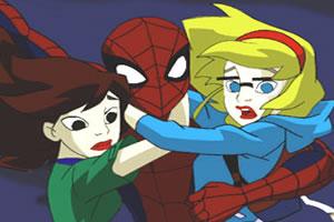 蜘蛛�b救女孩