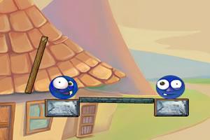 蓝色小球碰撞
