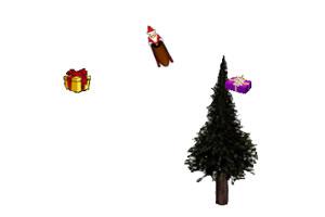 圣诞老人雪橇集礼物