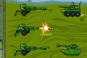 精钢大炮防御