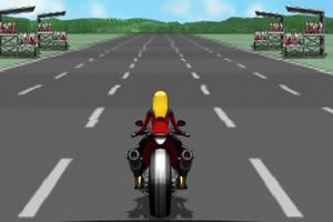 女摩托车手