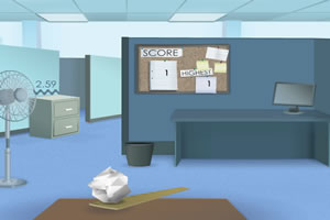 办公室扔纸球