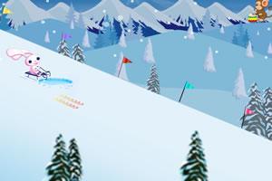 小兔子滑雪橇