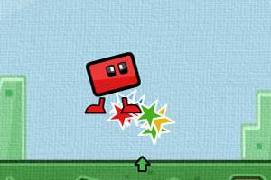 跳跃红盒子