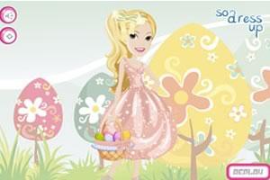 快乐的复活节女孩