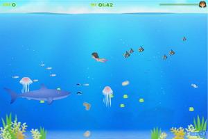 夏日潜水找贝壳