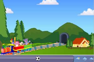 搭建玩具火车