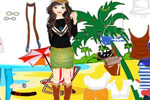 巴厘岛沙滩女生