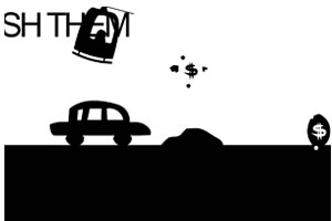黑白小汽车