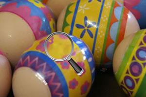 鸡蛋壳上找数字