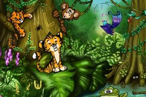 丛林找字母
