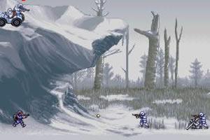 雪地的战斗