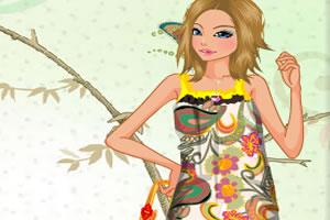花卉印花长袍