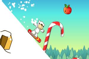 可爱熊滑雪