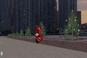 圣诞老人滑板