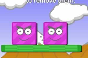 消除紫色形状
