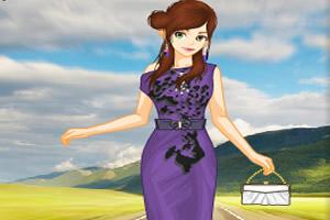 兽纹连衣裙