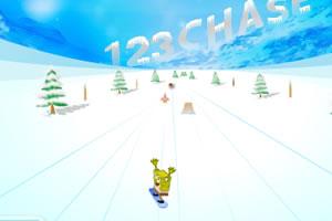 海绵宝宝滑雪骑士