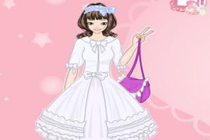 可爱手绘裙
