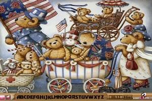 泰迪熊找字母