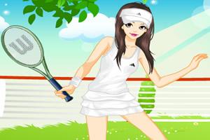 女孩打网球