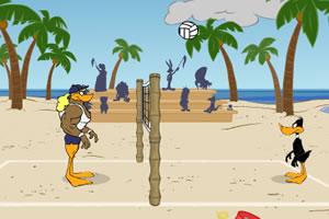 鸭子沙滩排球