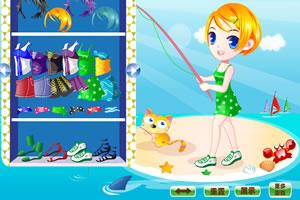 和猫咪钓鱼