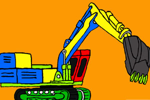 挖掘机涂鸦