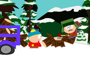雪天伐木场