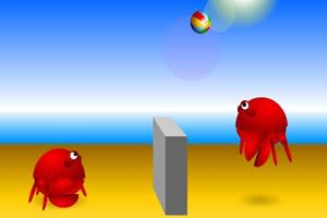螃蟹沙滩排球
