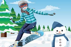 滑雪女孩装扮