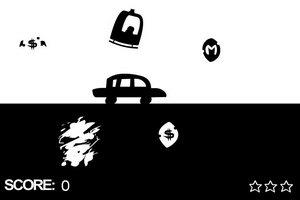 黑白色汽车