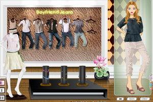 男友式牛仔裤