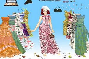 时尚花格吊带裙