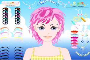 流行女孩化妆