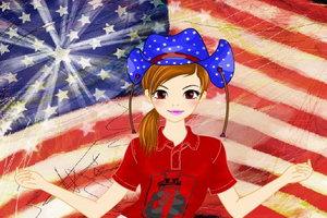 美国小女孩