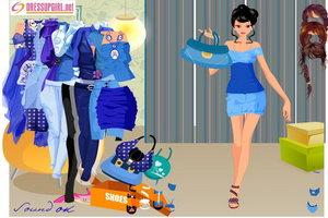爱上时尚蓝