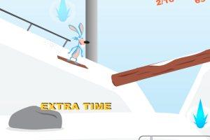 滑雪的动物