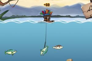 印第安人捕鱼
