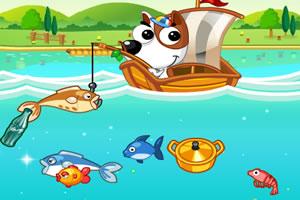 钓鱼的狗狗