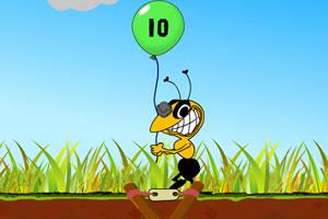 弹弓射击气球