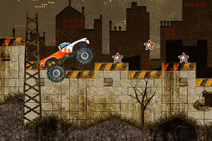 荒废城市越野车